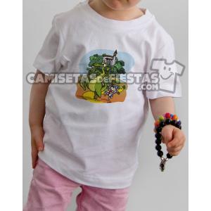 """Camiseta modelo para niños """"Cerro de San Jorge y el Dragón"""""""