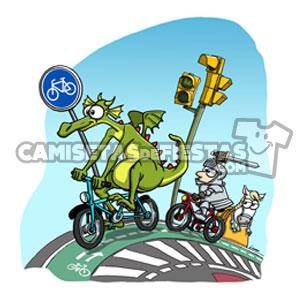 Camiseta Chica Bici San Jorge y el Dragón