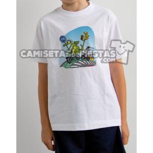 """Camiseta modelo para niños """"Bici San Jorge y el Dragón"""""""