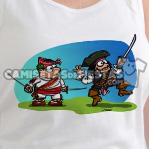 """""""Danzante con Jack Sparrow"""" Camiseta tirantes para chica"""