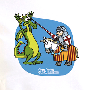 Camiseta Chica San Jorge y el Dragón